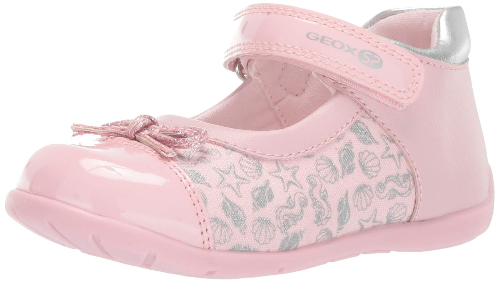 Geox Unisex-Child Elthan Girl 3 Velcro Ballet Flat Mary Jane