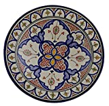 Product review for Hand Made Moroccan 14 Inches Serving Plate Pasta Bowl Salad Bowl Mediterranean Pottery