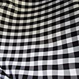 "5 Yards Checker Fabric 60"" Wide Gingham Buffalo Check Tablelcoth Fabric Decoration White / Black FREE SHIPPING"