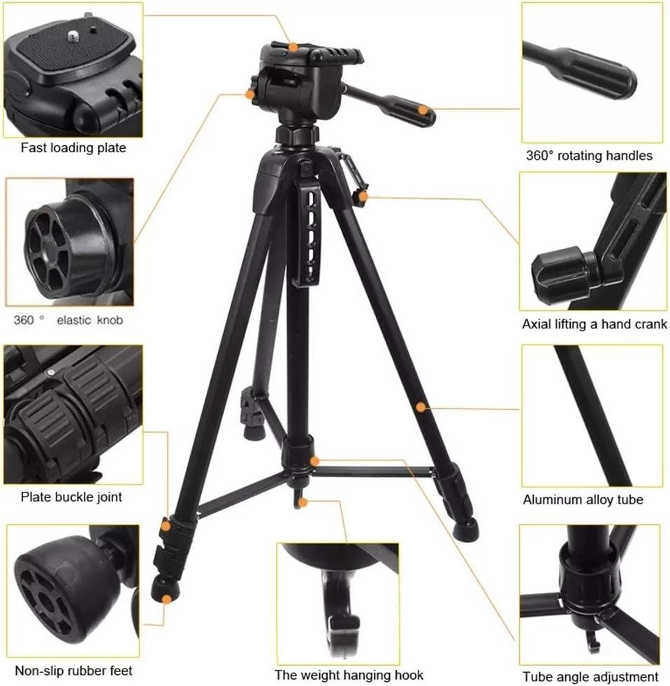 Color : Black, Size : One Size FeliciaJuan-ac Camera Tripod Portable Photography Tripod Professional Outdoor Aluminium Alloy Tripod for DSLR Camera for DSLR Camera Video Camcorder