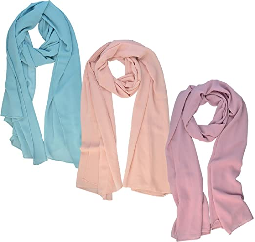 Solid Chiffon Square Scarf Beach Shawl Sunscreen Neck Wrap Valentine/'s Day Gifts
