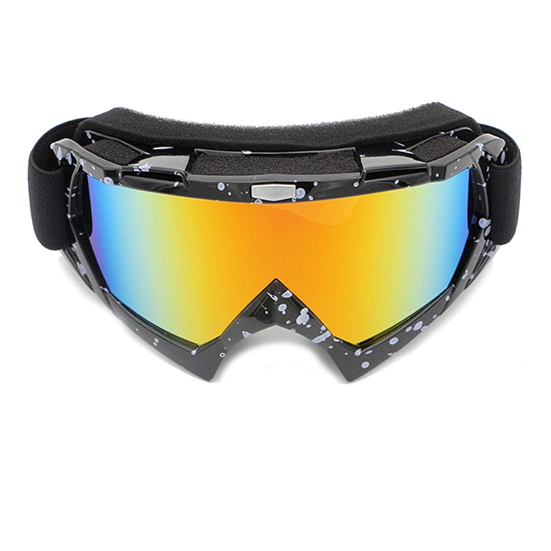 Lafeil Sportbrille Retro Damen Herren Motorradfahrer Brille Off Road Brille Skibrille Brille Reiten Brille Klettern Brille