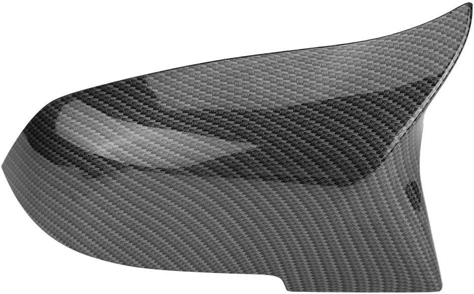 Keenso 1 Paar Carbon Spiegelkappen Ersatzteil Rückspiegel Abdeckkappe Rückansicht Abdeckungen Auto