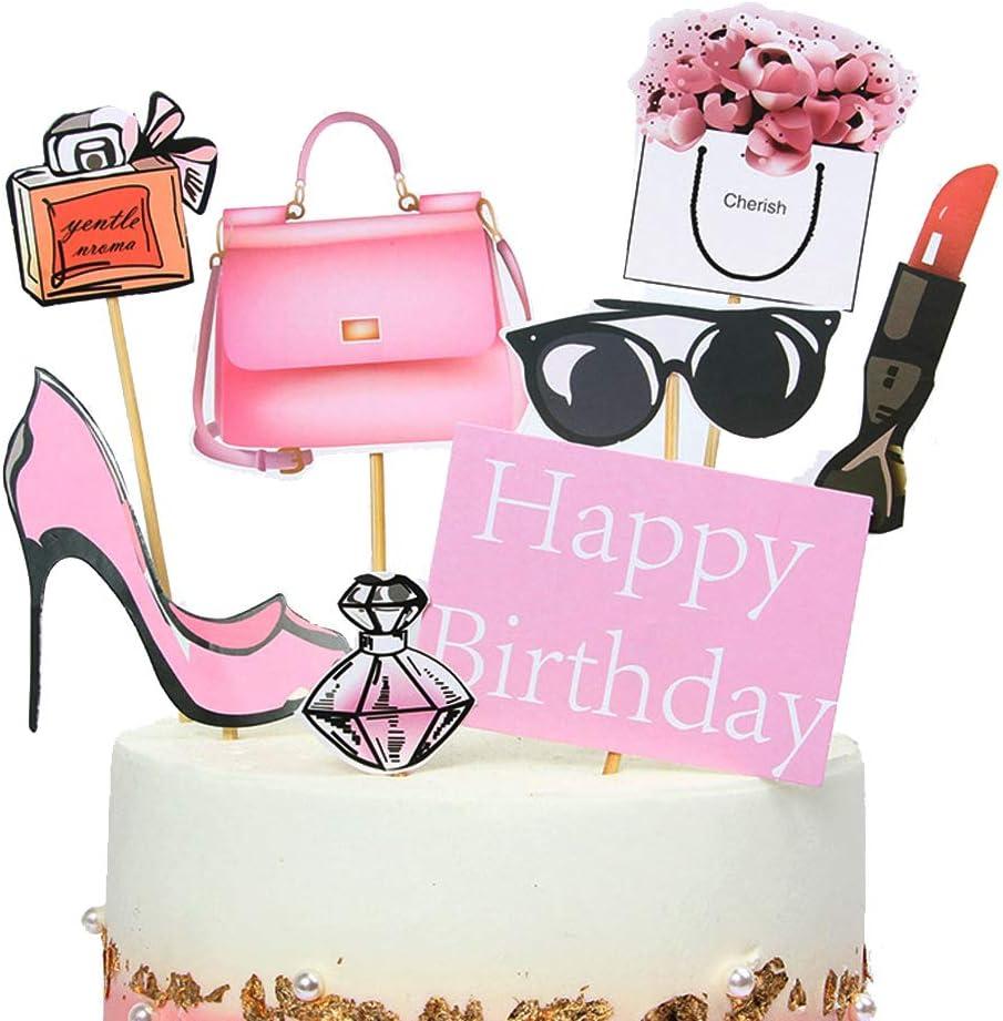 Tremendous Stechop 16 Pack Creative City Women Cupcake Toppers Happy Birthday Birthday Cards Printable Benkemecafe Filternl