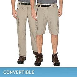 BC Clothing Mens Convertible Cargo Hiking Pants Shorts