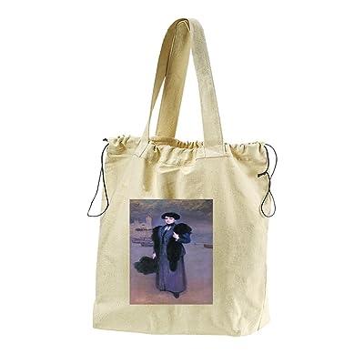 Deloris Vidal (Ramon Casas) Canvas Drawstring Beach Tote Bag