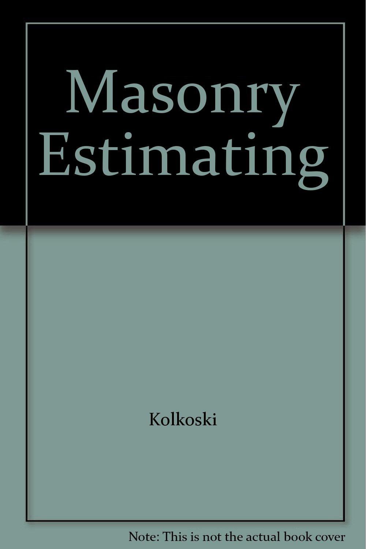 Masonry Estimating
