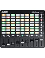 Akai Pro APC MINI - Disparador de clips y controlador USB MIDI compacto de 64 botones para Ableton Live, color negro