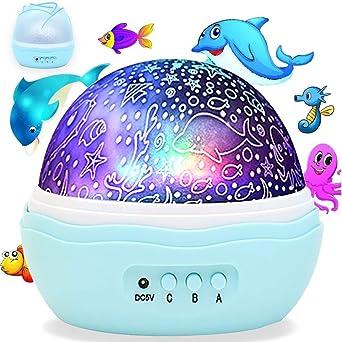 KEISL Lámpara de Noche,Proyector Lámpara,Rotación de 360 ° Ocean ...
