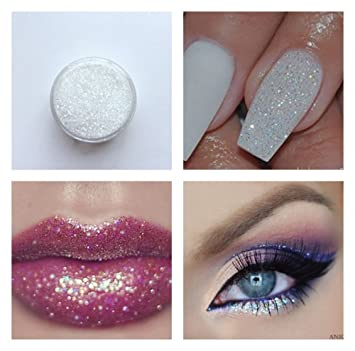 Iridescent micro glitter white sparkle shimmer effect dust powder iridescent micro glitter white sparkle shimmer effect dust powder nail art manicure pedicure lips eyeshadow 5ml prinsesfo Image collections