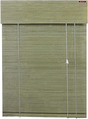Lyjml Cortina de bambú, cortina de rodillo de bambú, cortina de bambú plegable, persiana enrollable natural para puertas y ventanas, interior natural, para oficina, patio, exterior, dimensiones personalizables: Amazon.es: Hogar