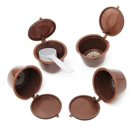 KING DO WAY 4pcs/Juego De Cápsulas café Cápsulas Filtro de café para máquinas Nestle