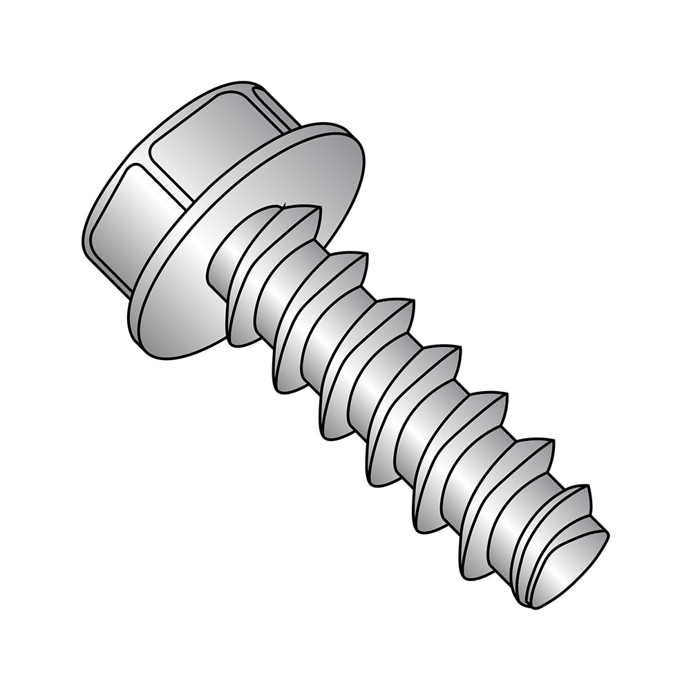 Small Parts 0808LW188 Passivated Finish #8-16 Thread Size Pack of 50 18-8 Stainless Steel Thread Rolling Screw for Plastic 1//2 Length Pack of 50 1//2 Length Hex Washer Head