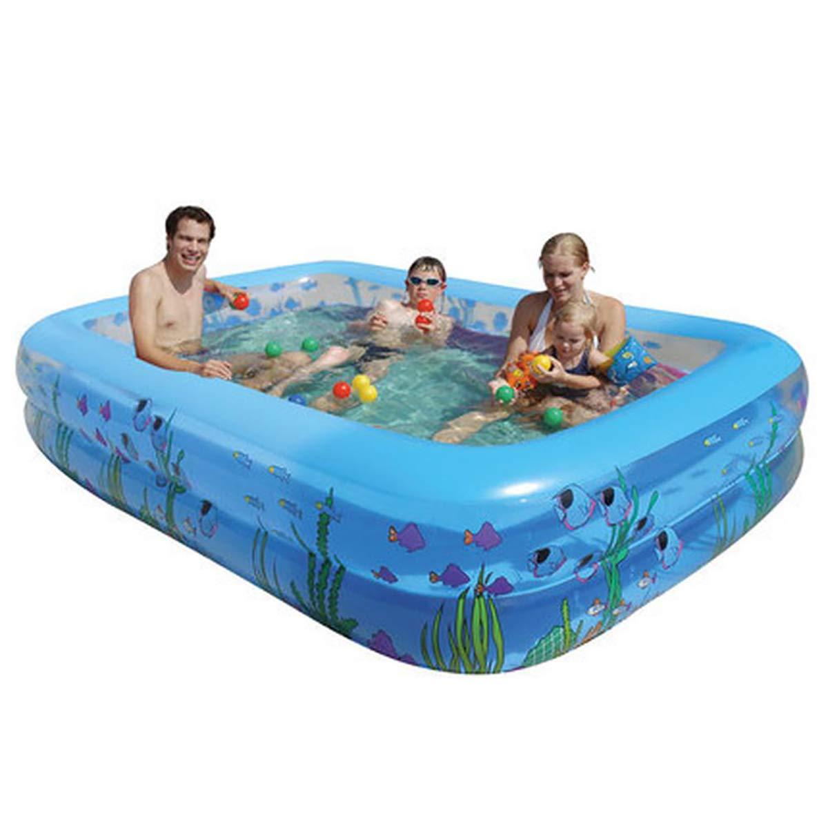 Blau WNUVB Aufblasbares Pool Planschbecken für Kinder mit Pool für Erwachsene