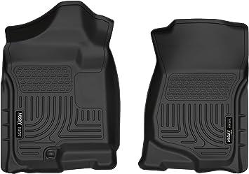 Husky liner 51181 Black Heavy Duty Front Floor Mats for 2007-14 GM 1500//2500