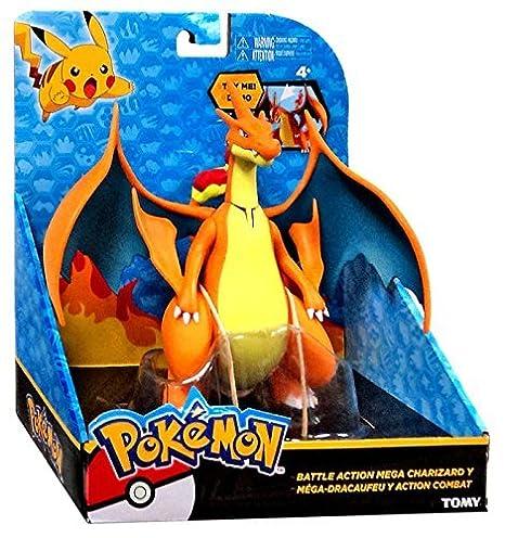 amazon com pokemon battle action mega charizard y 6 large figure