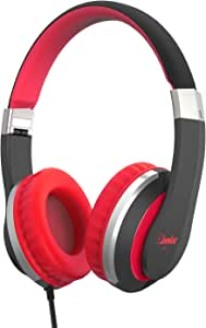 Elecder i41 Kids Headphones, Headphones for Kids Children Girls Boys Teens Foldable Adjustable On Ear Headphones with 3.5mm Jack for iPad Cellphones Computer MP3/4 Kindle Airplane School(Red/Black)