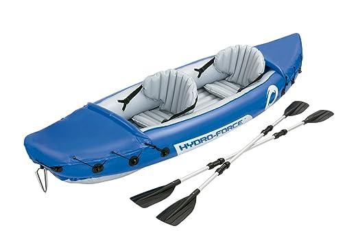 14 opinioni per Bestway 65077 Kayak Max. 160 Kg con Remi, Blu, 321 x 88 cm