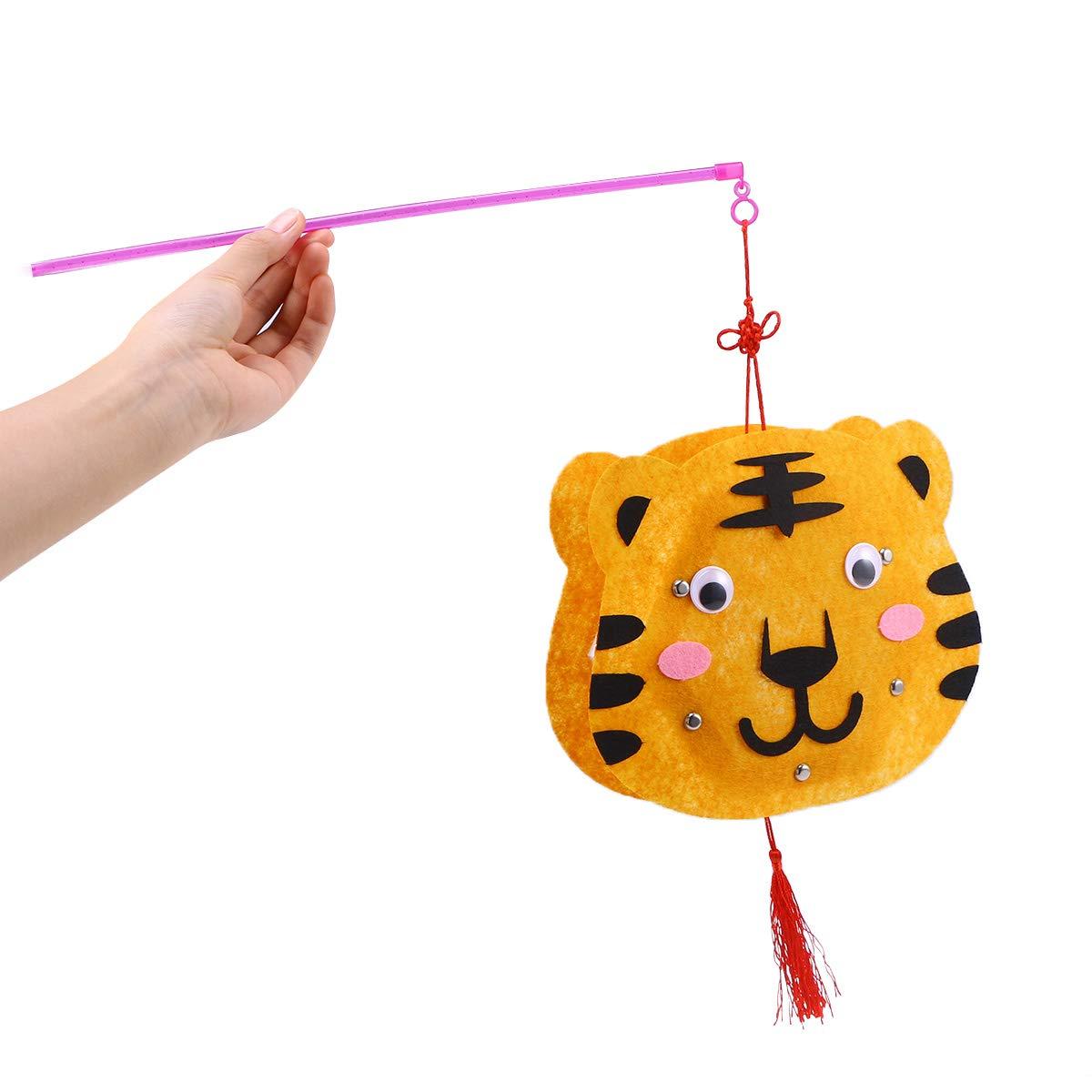 Tiger BESTOYARD Kinder DIY Handwerk Laternen Cartoon Tier Laternen Spielzeug Kindergarten Party Hochzeit Dekoration