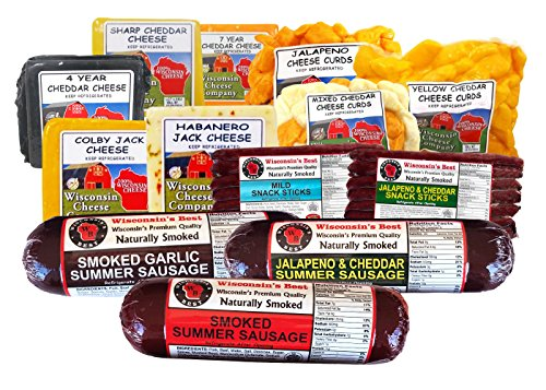 Premium Wi Cheese and Sausage Party Pack (7.8 Lbs) by Wisconsin's Best