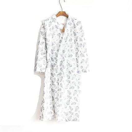 SUxian Gran El Albornoz de Verano de los Hombres Deja la Bata de algodón del patrón