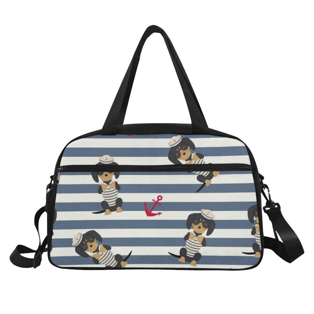 Unique Design Duffel Bag Dachshund Puppy Travel Tote Bag Handbag Crossbody Luggage
