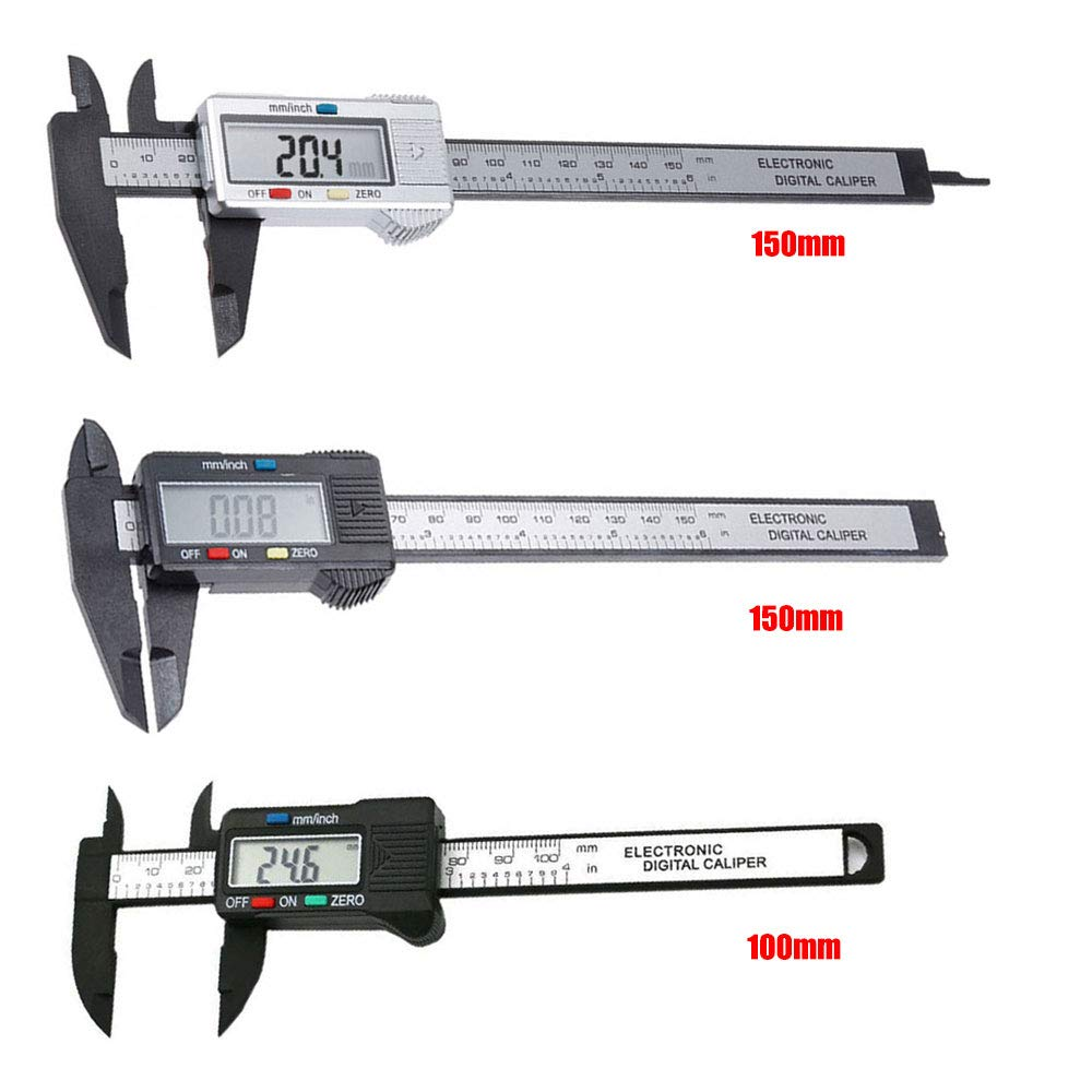 Digital Calliper Calliper with Impressive Measuring Accuracy Gauge for Indoor//Outdoor//Depth Measurements with LCD Display Professional Measuring Device 100mm