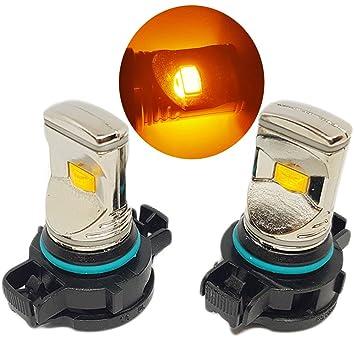 PSY24W Bombillas LED de ámbar naranja Canbus para Indicadores Blinkers – más brillantes y más cortos