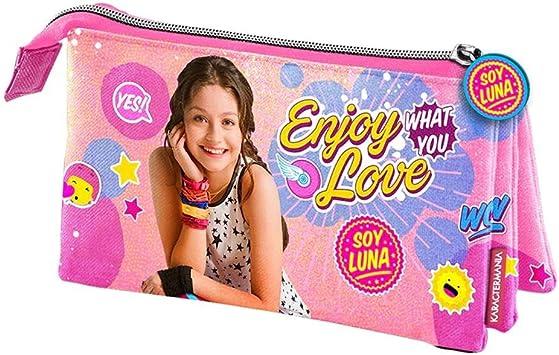 Soy Luna Estuche portatodo Triple, Color Rosa, 22 cm (Karactermanía 32282): Amazon.es: Juguetes y juegos