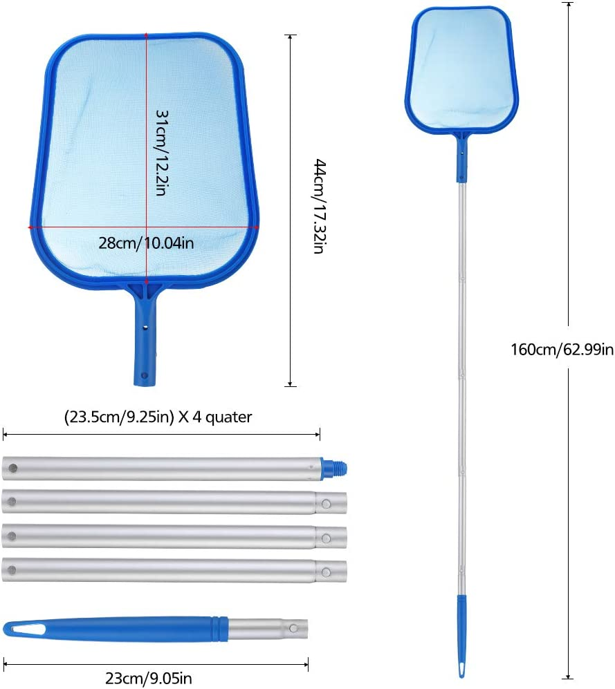 Isincer Professional Pool Skimmer Heavy Duty Leaf Skimmer Fine Mesh Net Sturdy Frame Suitable for Spas,Swimming Pool