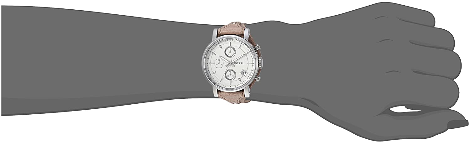 858374d860b Fossil Women s ES3625 Original Boyfriend Chronograph Stainless Steel Watch  with Beige Leather Band  Fossil  Amazon.com.au  Fashion
