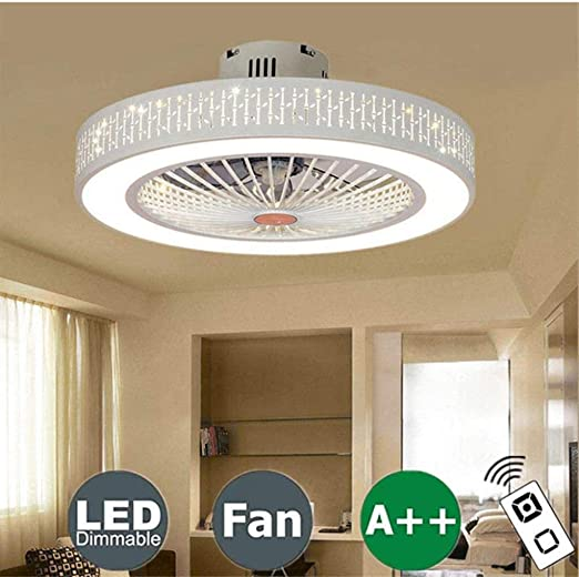 YANQ Ventilador de Techo con iluminación, lámpara LED Ventilador ...
