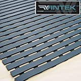 VinTread Mat Vinyl Wet Area Floor Matting for Swimming Pool Shower Sauna Spa Bath Tub Bath Splash Matting Water Drain Wet Flooring Anti-Slip Indoor/Outdoor by VinTek (3' x 4', Blue)