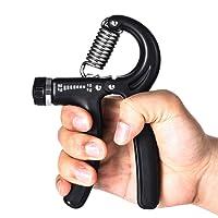 HWeggo Hand Grip Strengthener, Hand Gripper Pince de Musculation exercer Sa souplesse de Main utiles pour Rééduquer Avant Bras et Mains, Réglable Résistance10-50 Kg, Noir