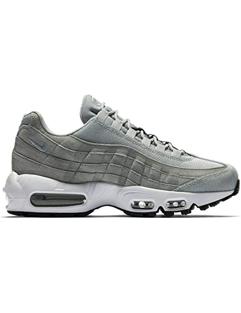 Nike Zapatillas Air Max 95 Premium Light Gris/Blanco Mujer: Amazon.es: Zapatos y complementos