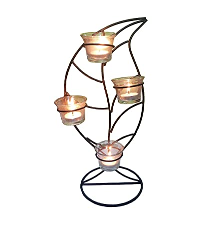 72c2f3cc9cd Buy Satya Mart Antique Leaf Design T-Light Candle Holder Home Decor Wall  Hangings Wall Decor Online at Low Prices in India - Amazon.in