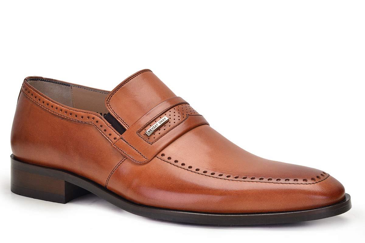 1ec67be479d1d Nevzat Onay Bağcıksız Safran Rengi Kösele Deri Erkek Ayakkabı 43:  Amazon.com.tr: Nevzat Onay