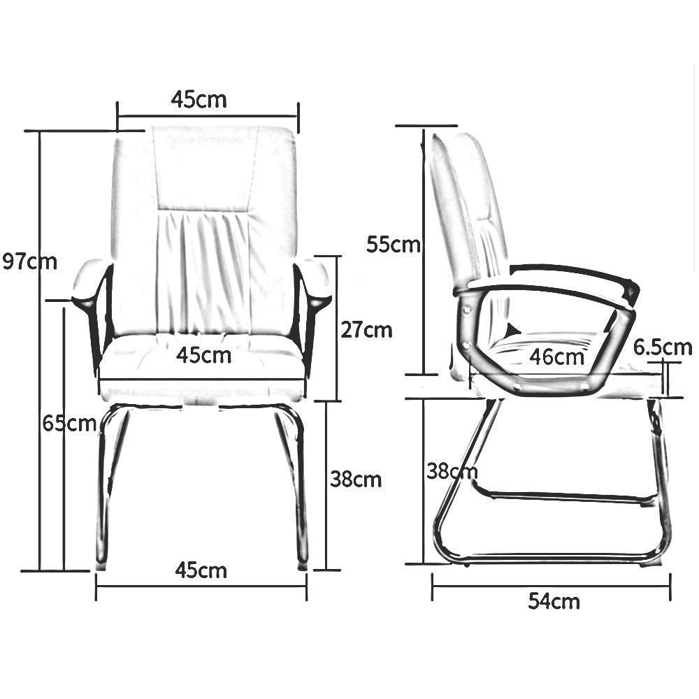 JIEER-C stol verkställande och ergonomisk svängbar stol, fotmassage dator spelstol för kontor mötesrum, brun Brun