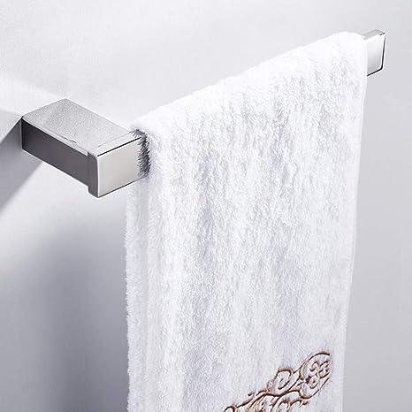 Rishx Soporte de riel de Toalla de Acero Inoxidable para baño y Cocina, 27cm Colgador