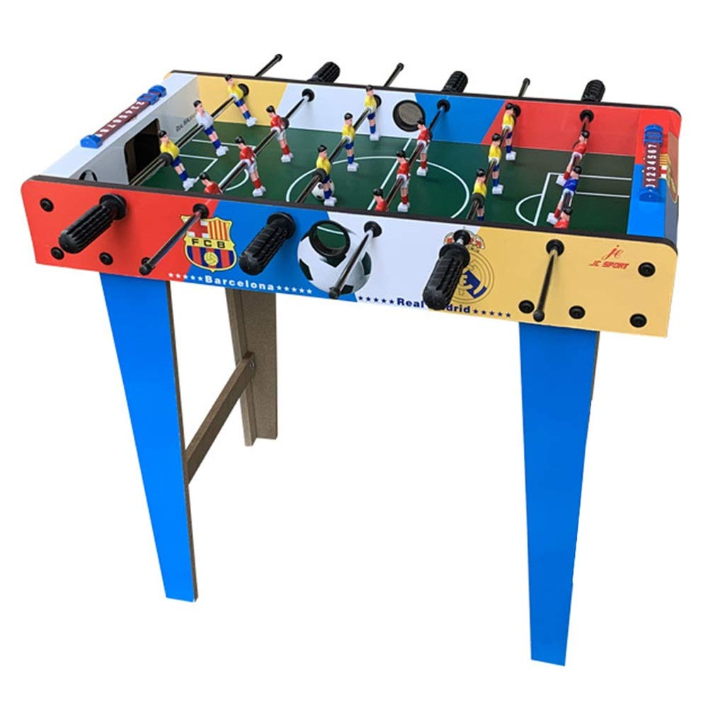 Foosball Table Soccer Game Foosball Table for Adults and Kids - Competition Family Soccer Game (Color : Color, Size : 69x37x65cm) by Forgiven