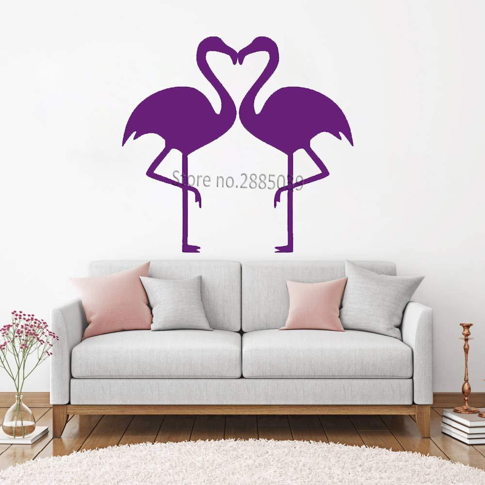 yaoxingfu Flamingo Heart Pair Tatuajes de Pared Pegatina para ...