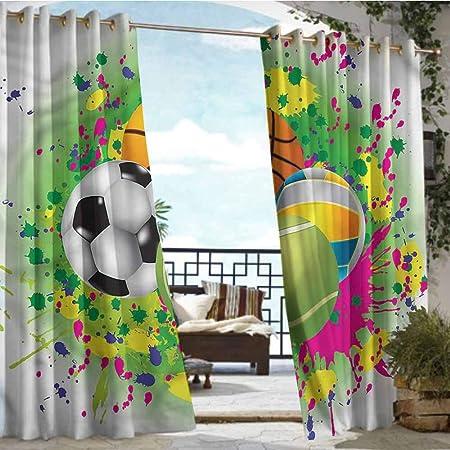 Andrea Sam - Cortina de privacidad para Deportes de pérgola, diseño de balón de fútbol: Amazon.es: Hogar