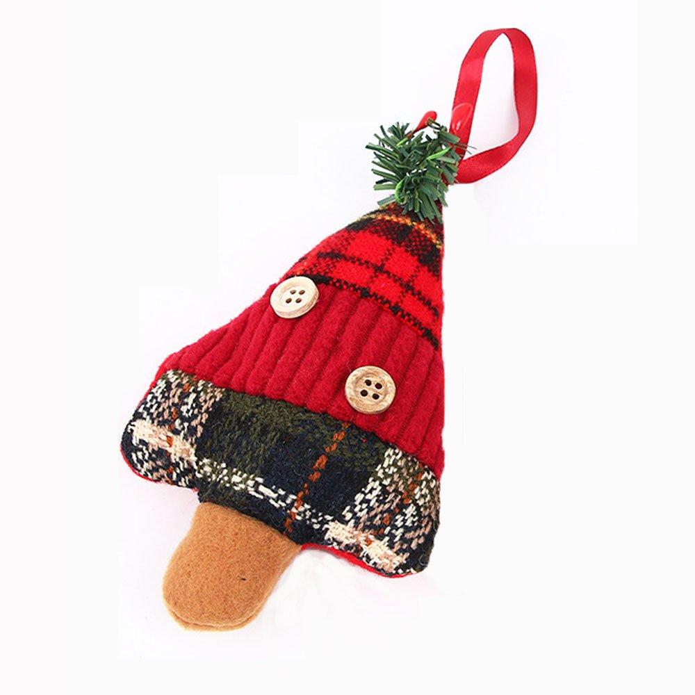 Whitegeese Rustic Reindeer Santa Snowman Crutch 3D Burlap Mini Christmas Stockings Christmas Tree DIY Hanging, Gift Card Silverware Holders Decor Christmas Decorations (D)