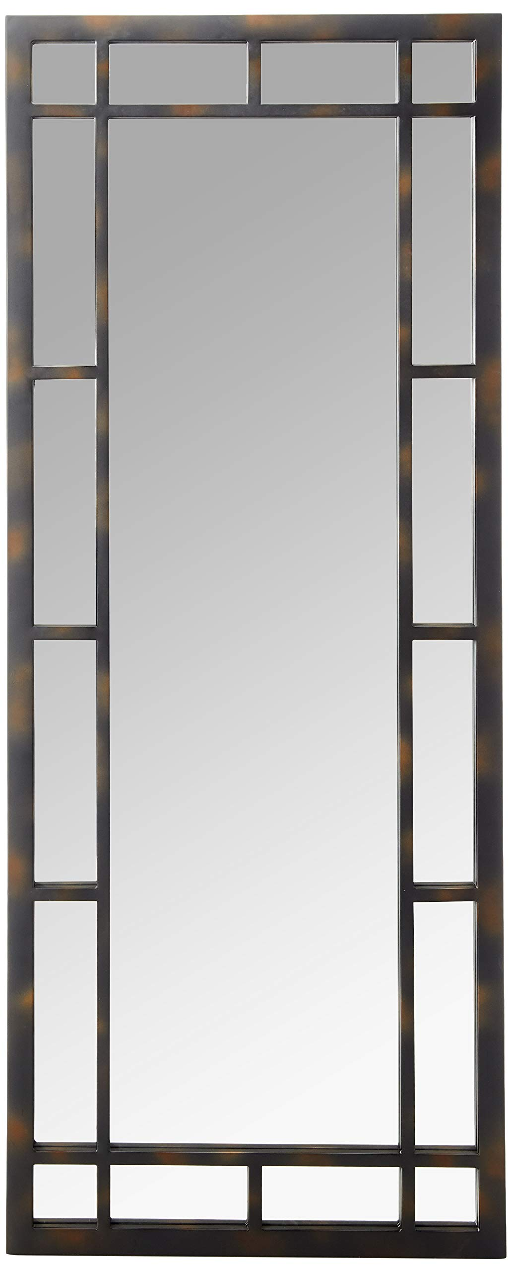 Coaster Home Furnishings Coaster Industrial Geometric Mirror with Black Frame, by Coaster Home Furnishings