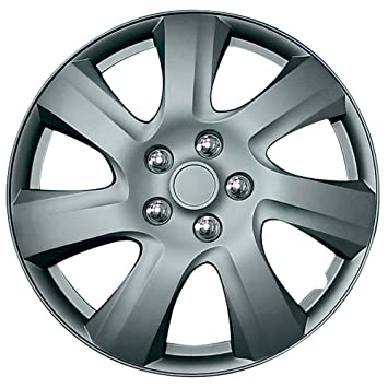 Set wheel covers Carolina 17-inch matt-gunmetal: Amazon.co.uk: Car & Motorbike
