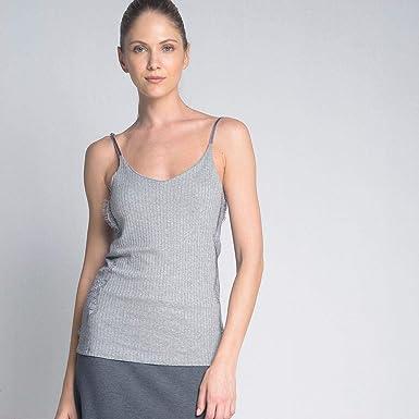 467e7c31cf Blusa Regata Alcinha Renda Cinza  Amazon.com.br  Amazon Moda