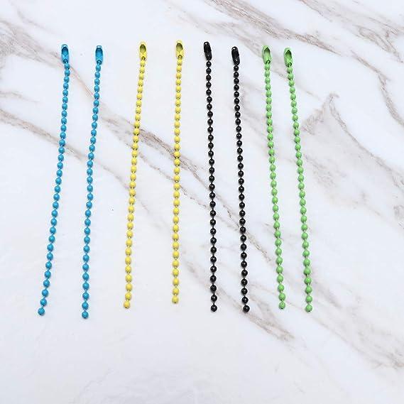 SUPVOX 200 piezas de cadena de bolas de bolas cadena de bolas de metal collar de cadenas de bolas para hallazgos de joyas llaveros etiquetas proyectos artesanales