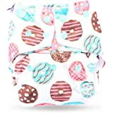 superbottoms Basic Certified Soft Fleece Lined Pocket Diaper with 1 Wet Insert with Snaps (Donut, One Size Adjustable, 4 Sizes in 1, 5-17 kg)