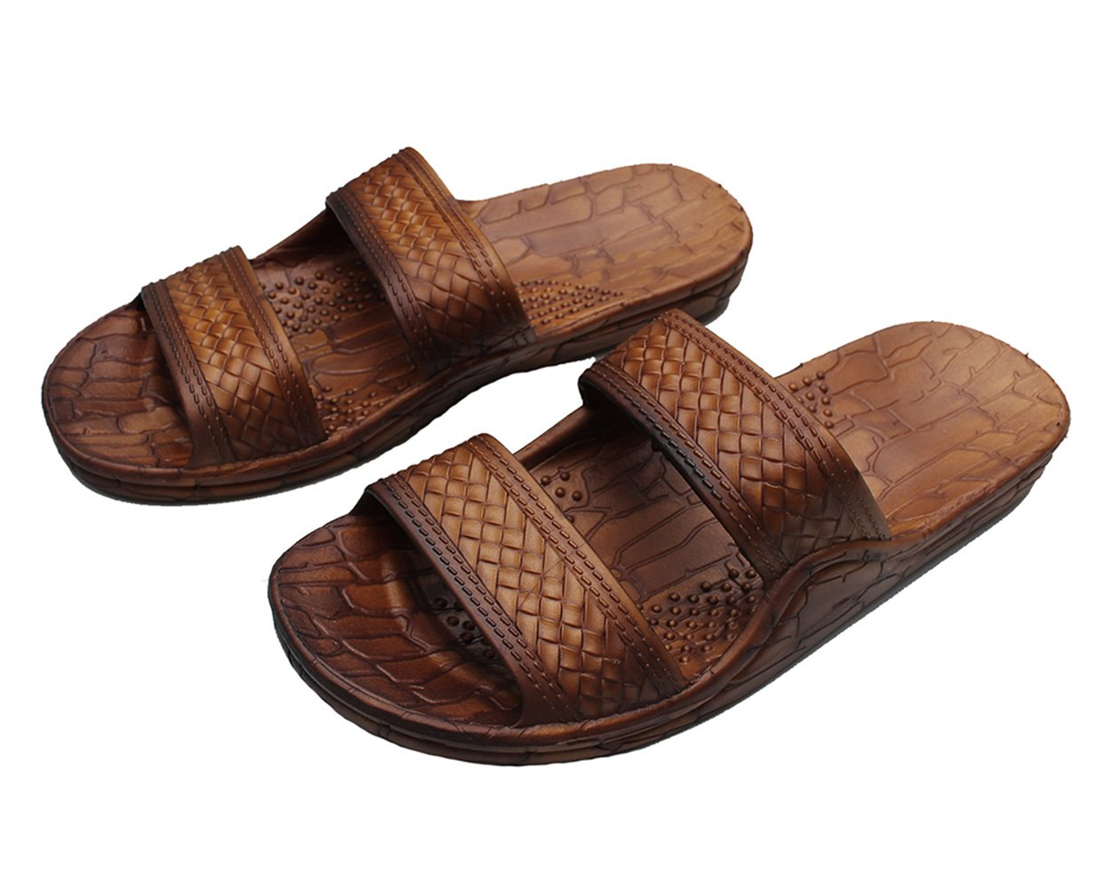 HawaiiImperial Sandals Hawaii Brown or Black Jesus Sandal Slipper For Men Women and Teen Classic Style