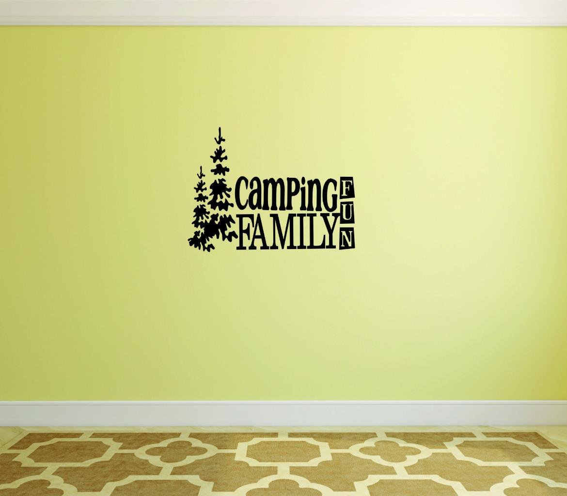 Camping Family Fun Wall Sticker - Outdoor Home Decor Decal Size : 10 ...